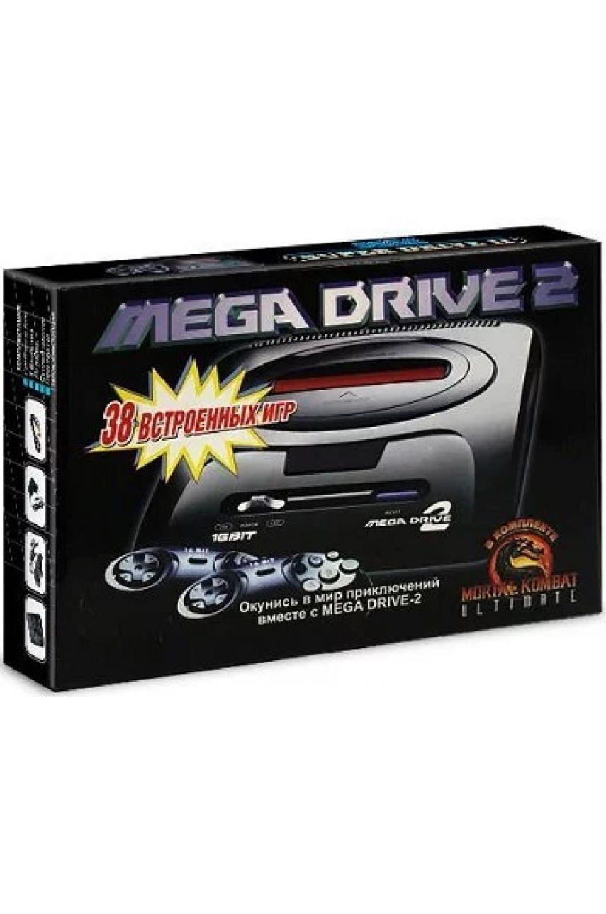 SEGA Mega Drive 2 + Mortal Kombat Ultimate (38 игр)