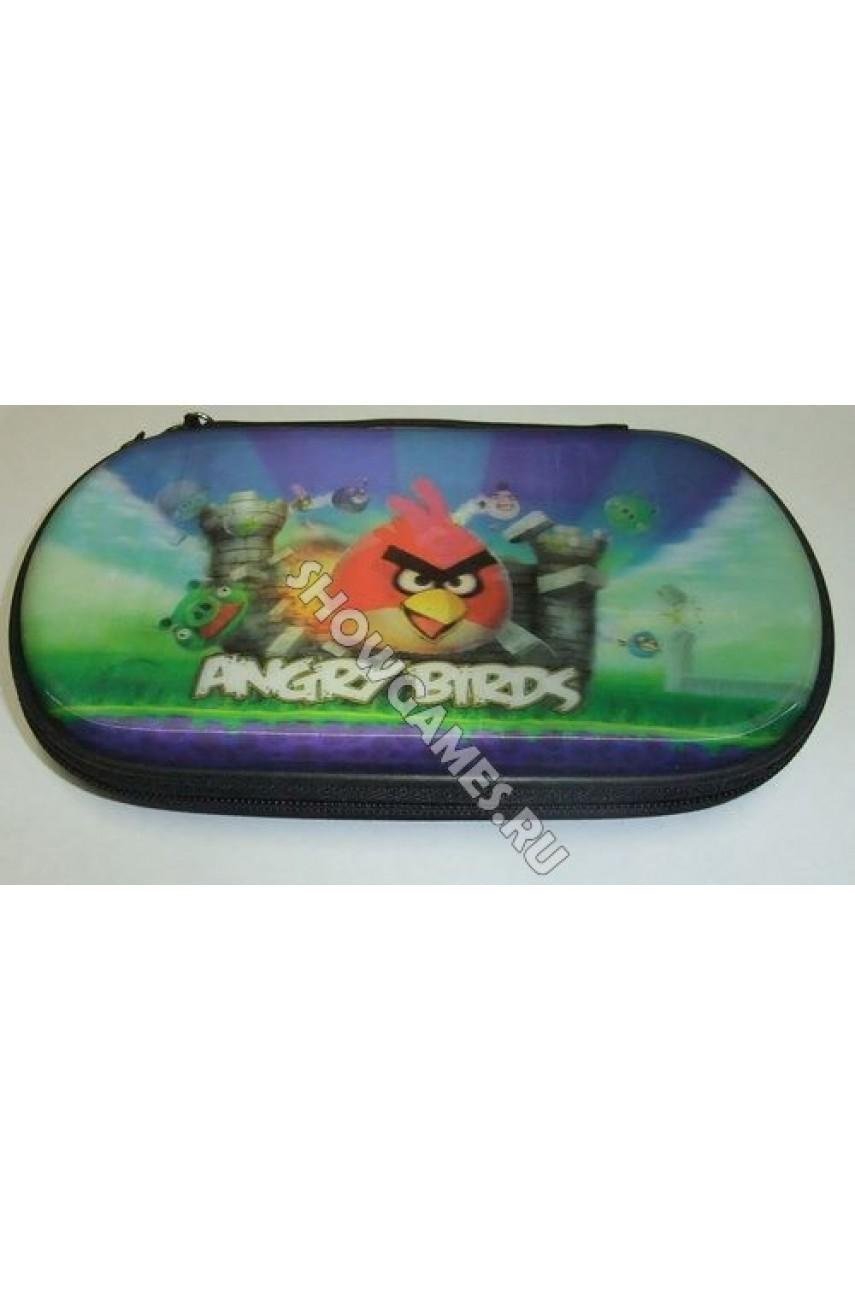 PSP 3D Case Foam - Защитный чехол с голографическим рисунком Angry Birds