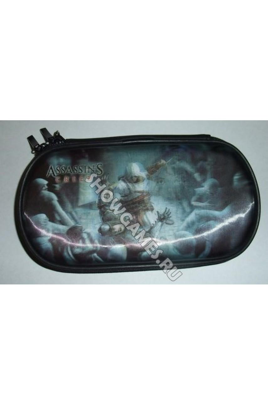 PSP 3D Case Foam - Защитный чехол с голографическим рисунком Assassin's Creed