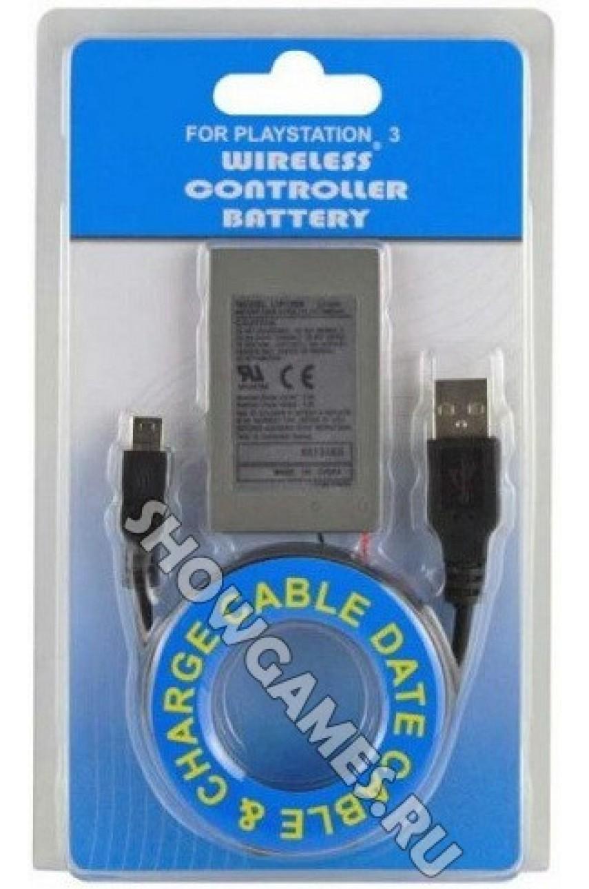 Аккумулятор для джойстика PS3 (Dualshock 3) + кабель зарядки