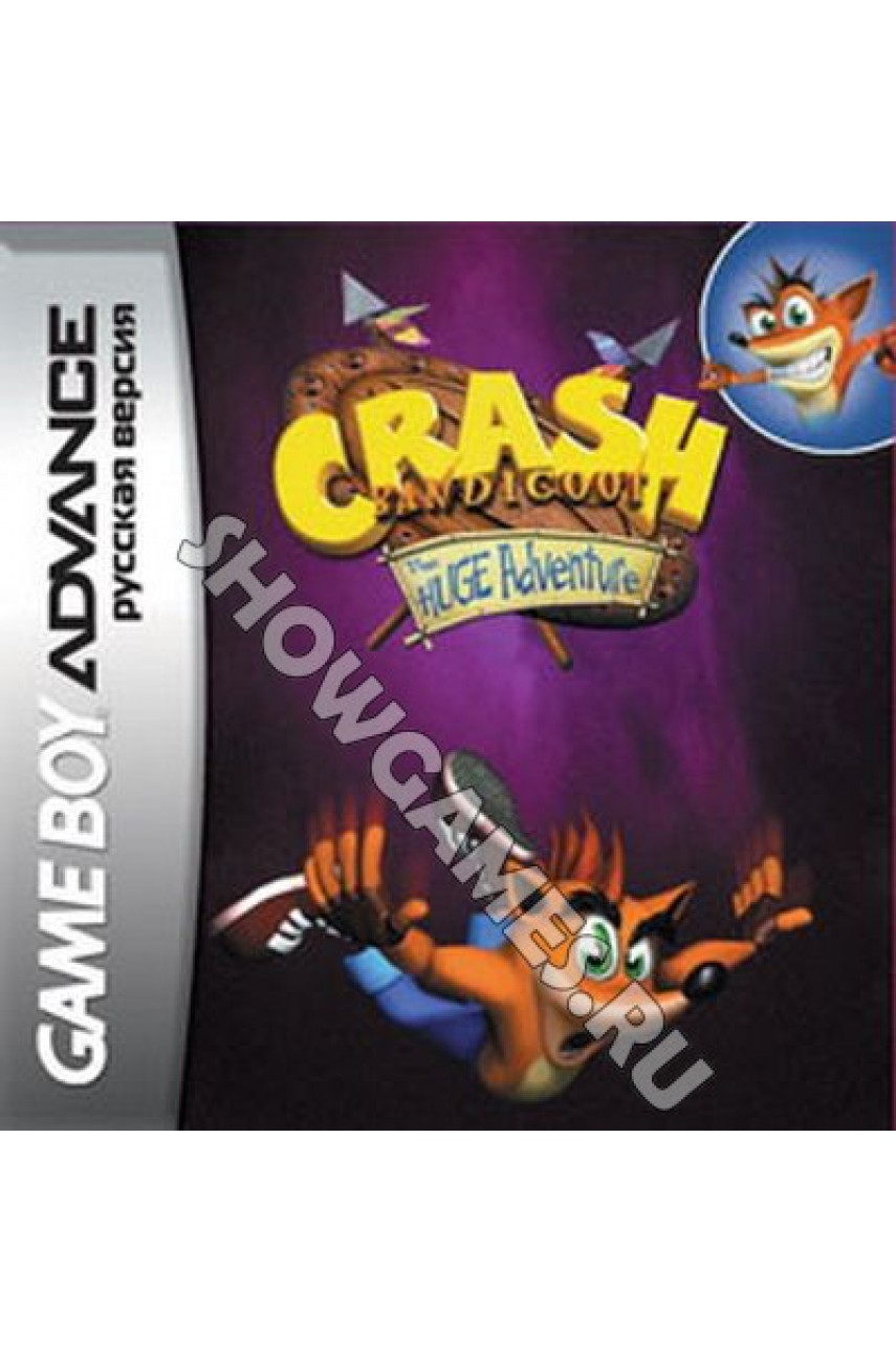 Crash Bandicoot: The Huge Adventure (Русская версия)  [Game Boy]