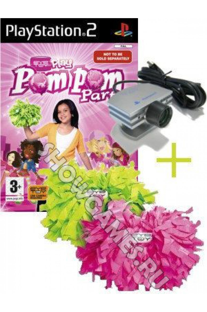 EyeToy: Play PomPom Party [PS2] + камера Playstation 2