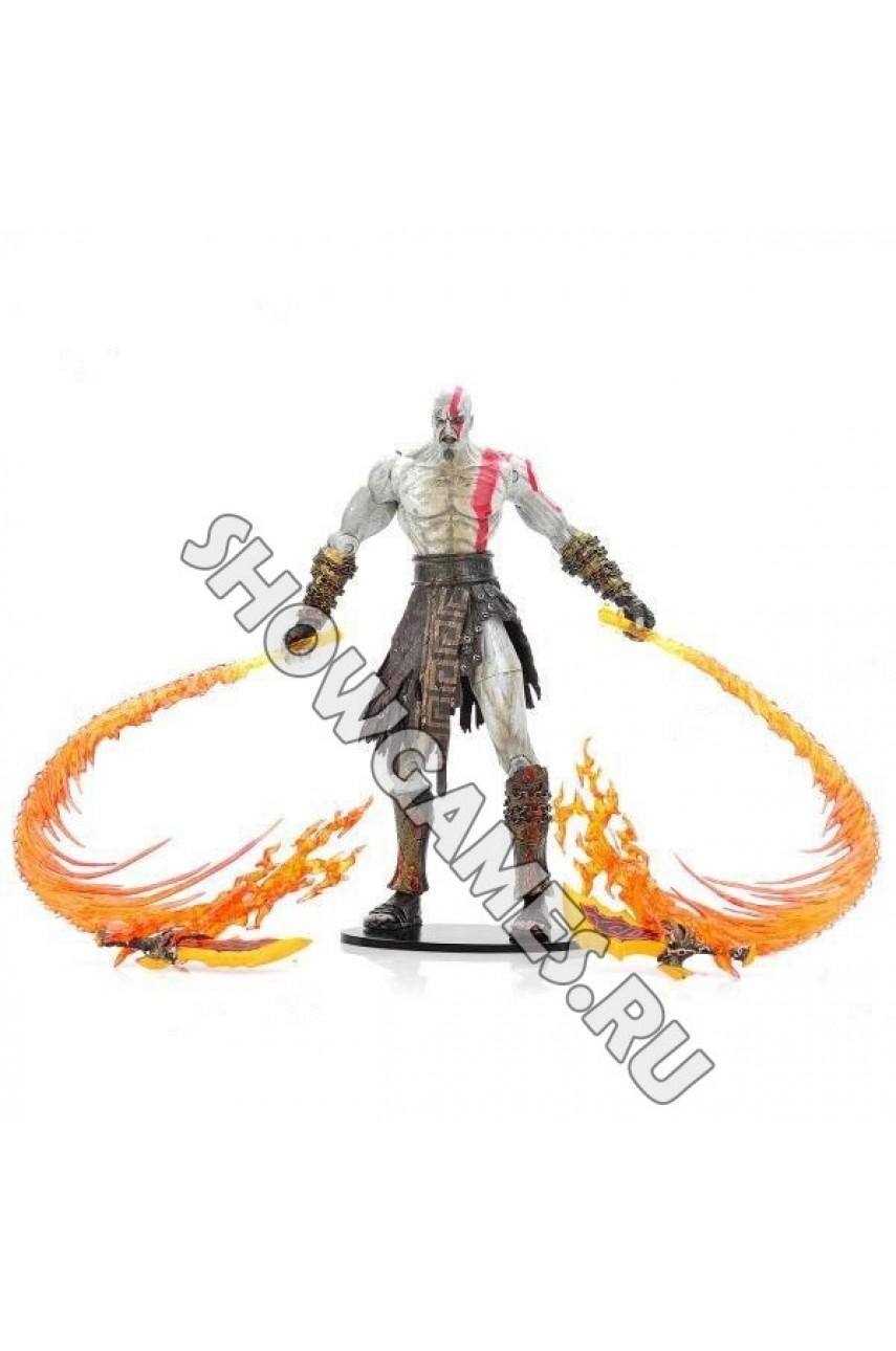 God of War 2. Фигурка персонажа Кратос (Kratos) с огненными клинками