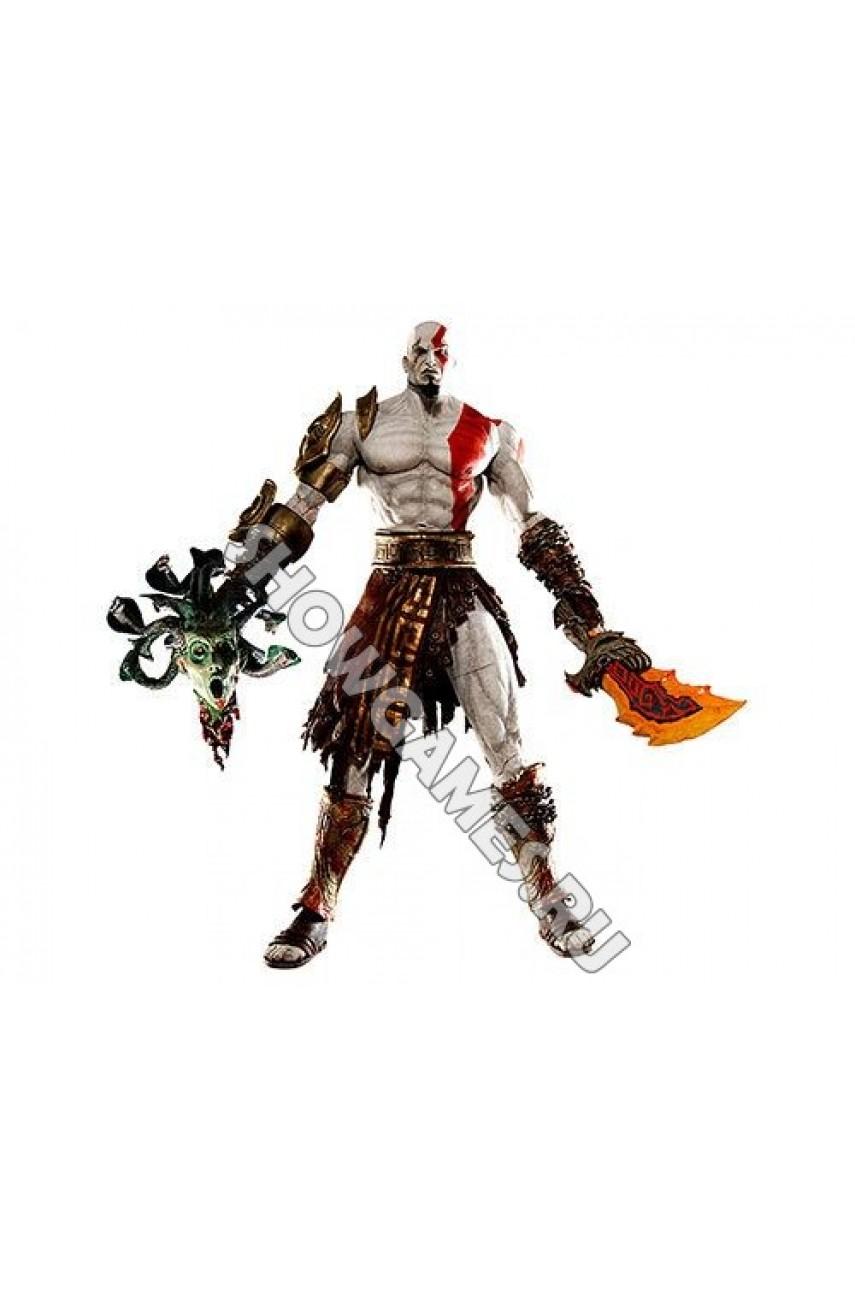 God of War 2. Фигурка персонажа Кратос (Kratos) с головой медузы Горгоны