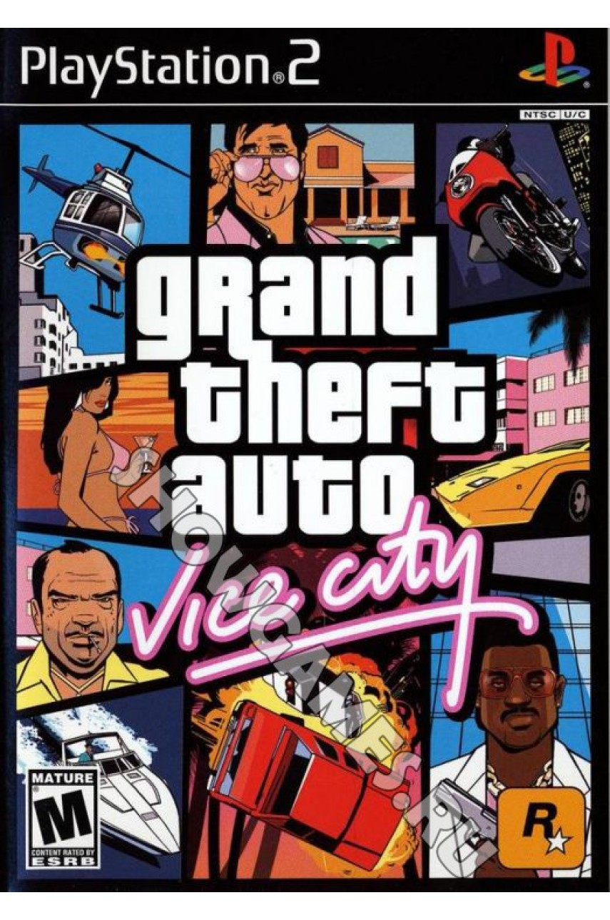 Grand Theft Auto Vice City Platinum [PS2]