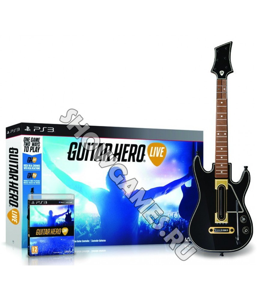 Guitar Hero Live Bundle (игра + гитара) [PS3]