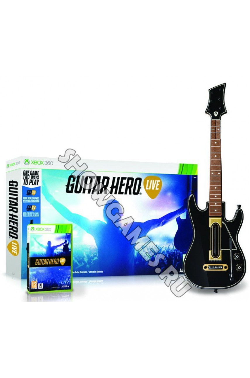 Guitar Hero Live Bundle (игра + гитара) [Xbox 360]