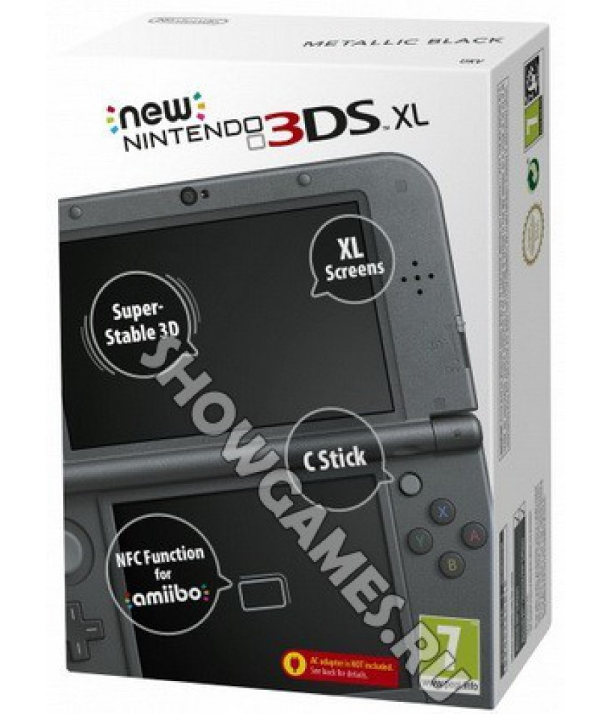 New Nintendo 3DS XL черный