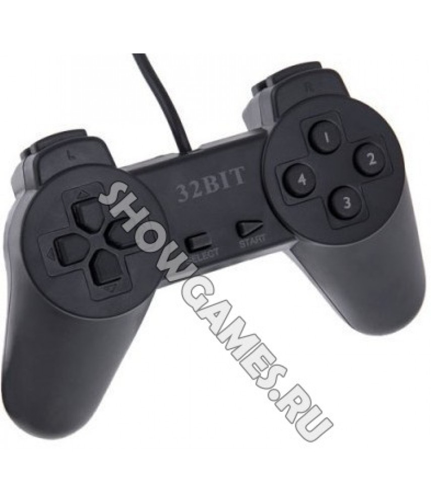 Джойстик для PS One (PSX) стандартный чёрный (PS One Controller)