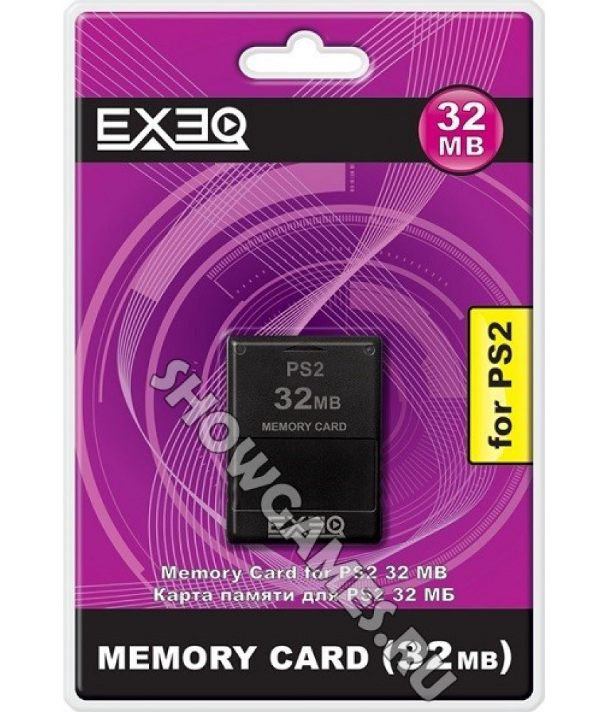 Карта памяти для Sony PS2 32 mb [Exeq]