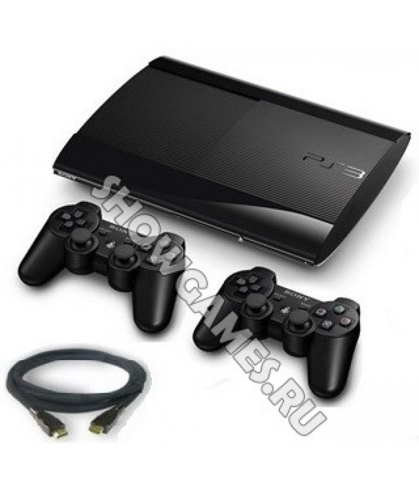 Sony PlayStation 3 Super Slim 500Gb + 2-ой Dualshock 3 + кабель HDMI