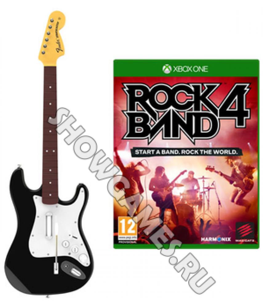 Rock Band 4 Stratocaster Bundle (Гитара + игра) [Xbox One]