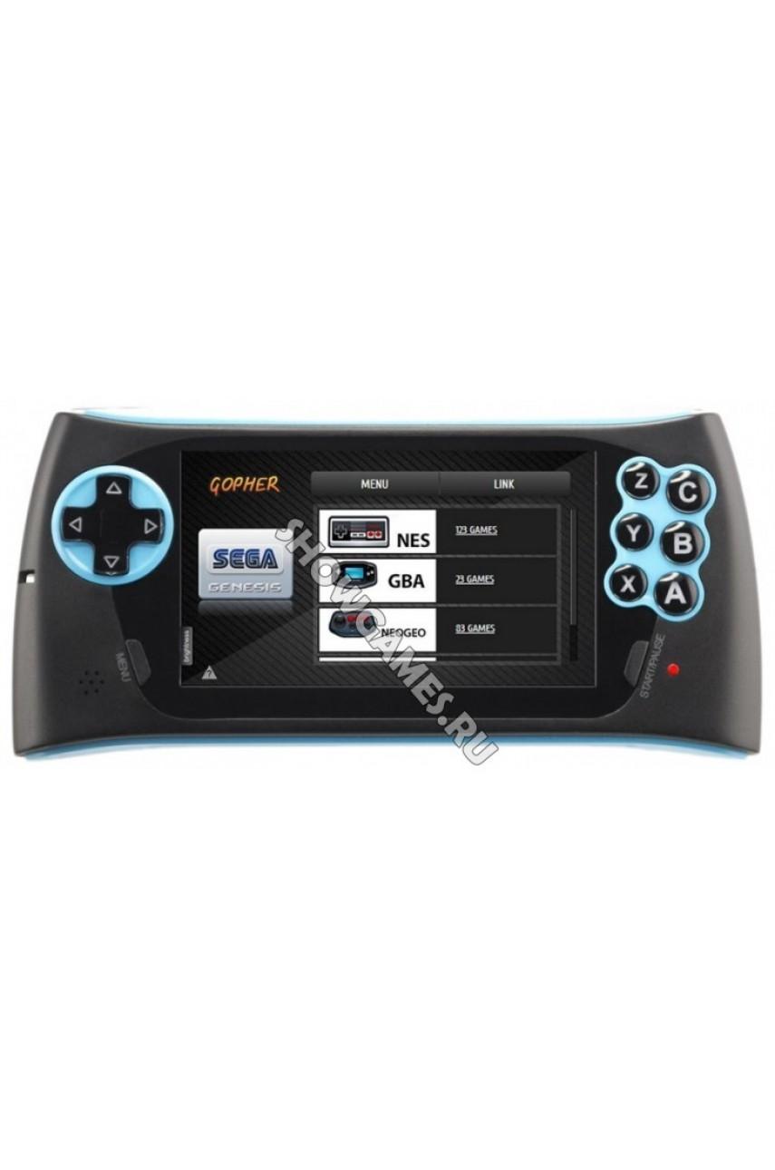 Sega Genesis Gopher 2 (Синяя) + 500 игр
