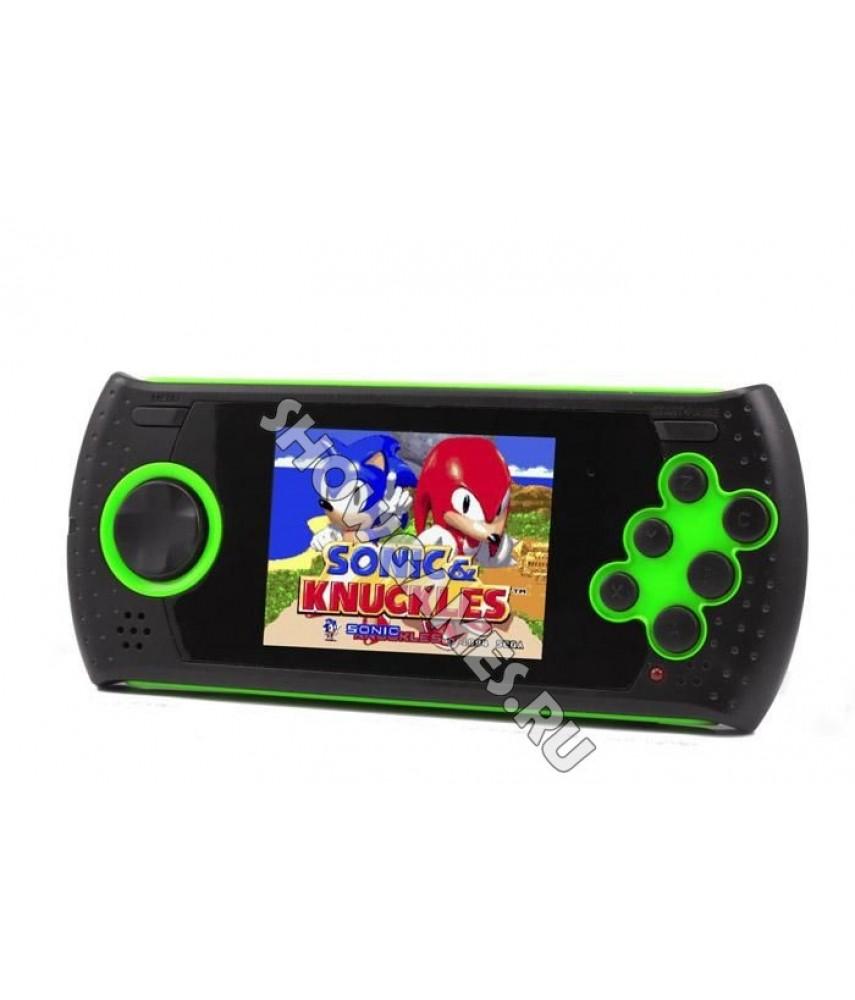 Sega Genesis Mega Drive GOPHER (Портативная Сега) (зелёная) [20 игр]