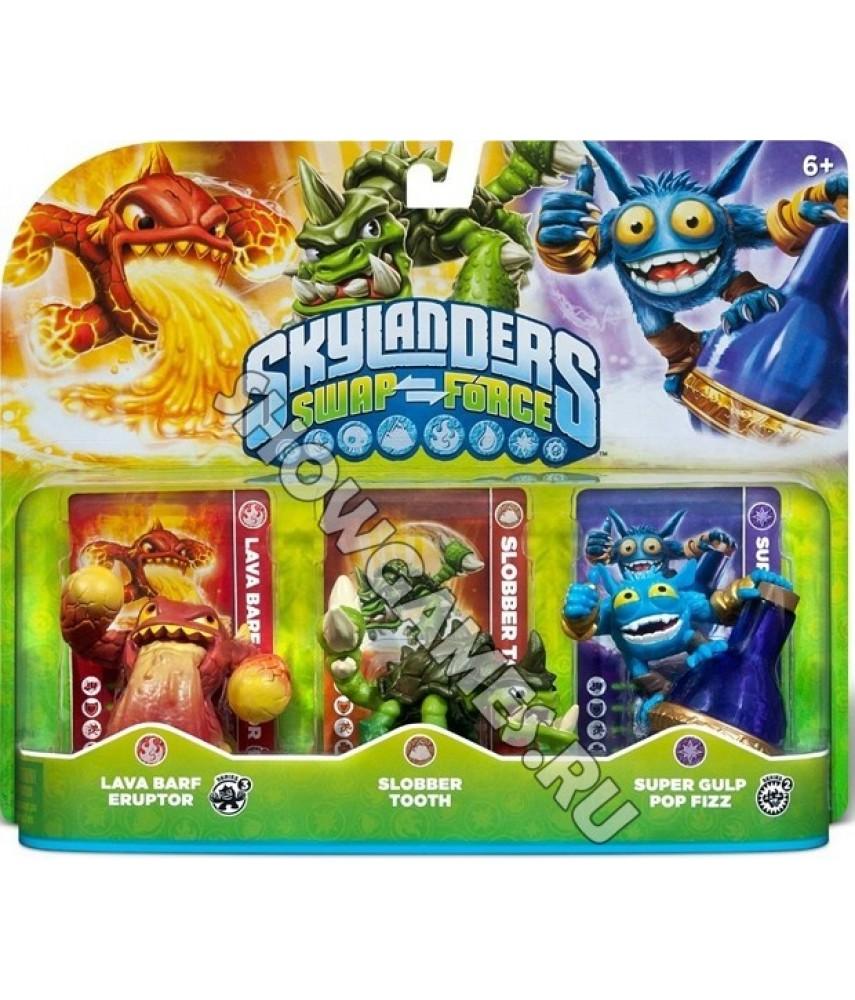 Набор Skylanders Swap Force: Lava Barf Eruptor, Slobber Tooth, Super Gulp Pop Fizz