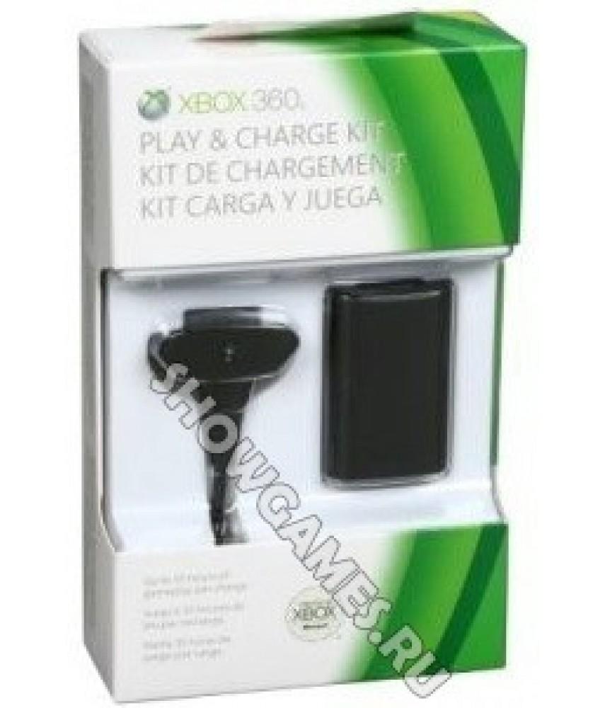 Аккумулятор + кабель зарядки для Xbox 360 (Play Charge Kit)