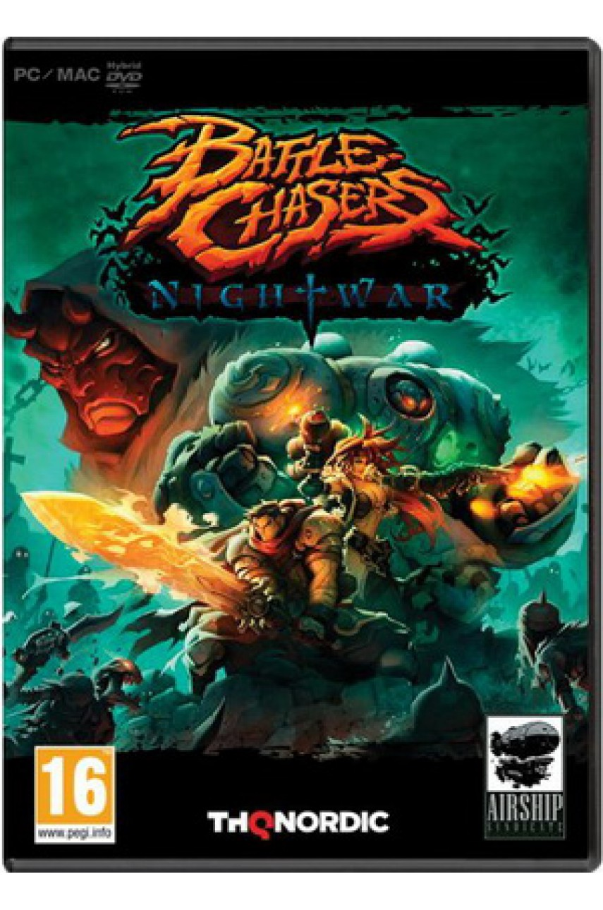 Battle Chasers: Nightwar (Русские субтитры) [PC DVD, box]