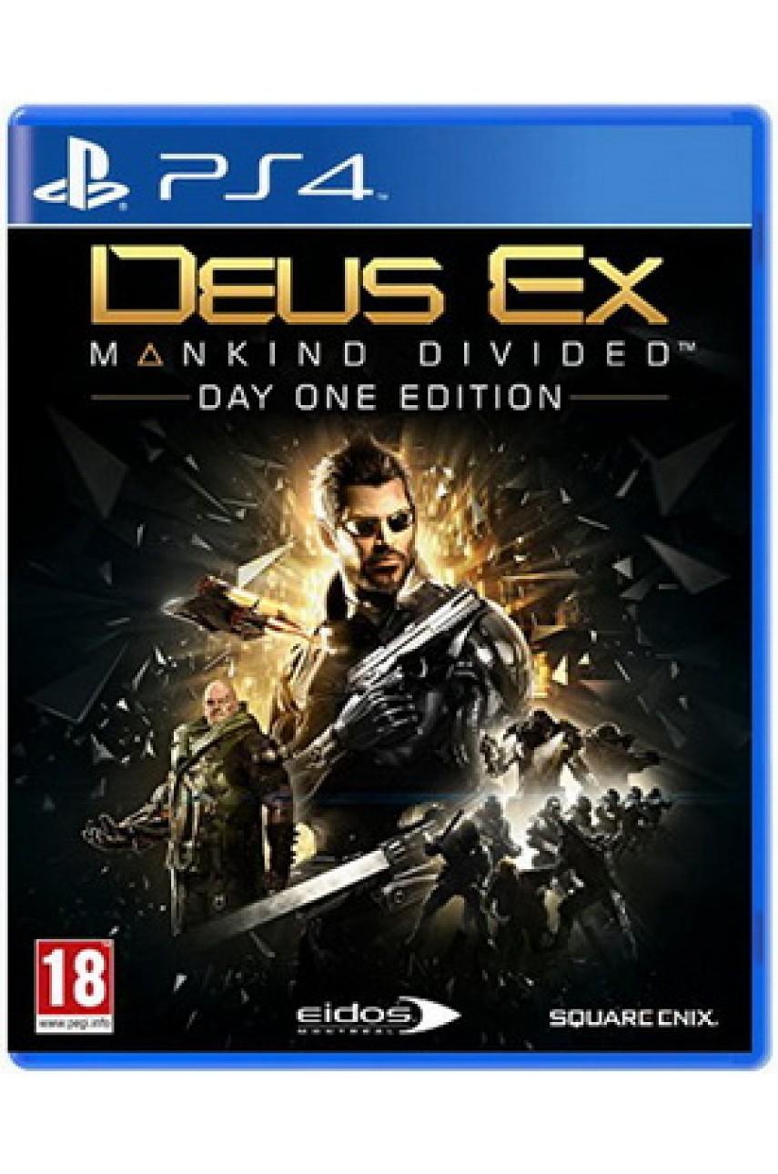 Игра Deus Ex: Mankind Divided русская версия для Playstation 4 - Б/У