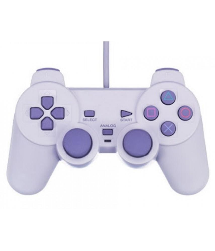 Джойстик для PS One (PS1) аналоговый (PS One Controller Analog) (в пакете)