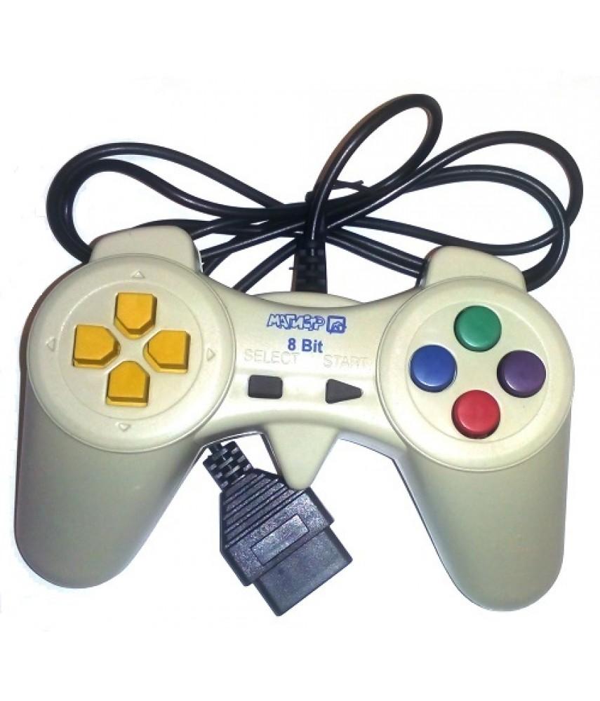 Джойстик для Денди рогатый (форма Sony) - 8 бит (широкий разъем 15 pin)