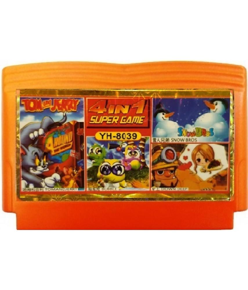 Сборник 4 в 1 Tom and Jerry/Snow Brother/Down Deep/Bubble [Денди]