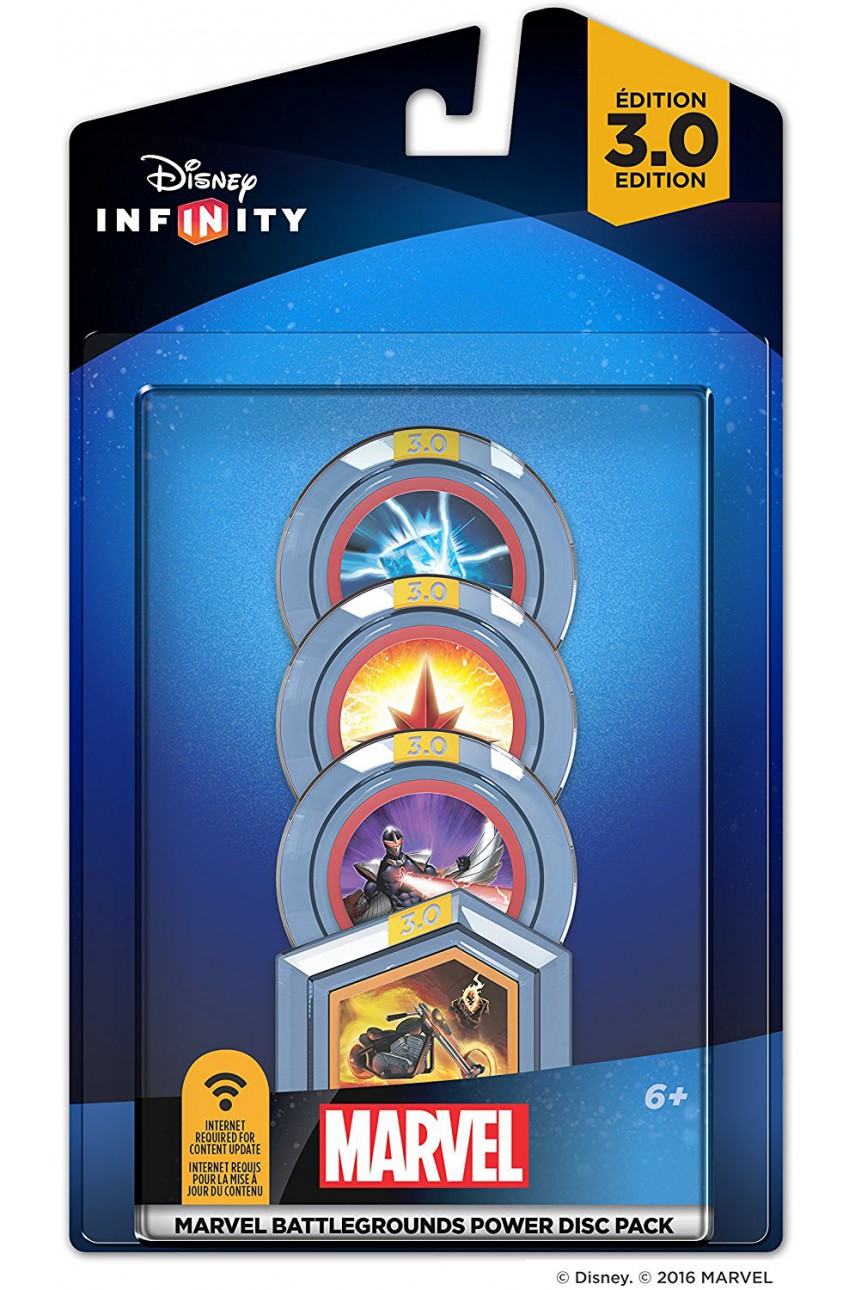 Disney. Infinity 3.0: Набор 4 волшебных жетона: MARVEL Battlegrounds Power Disc Pack