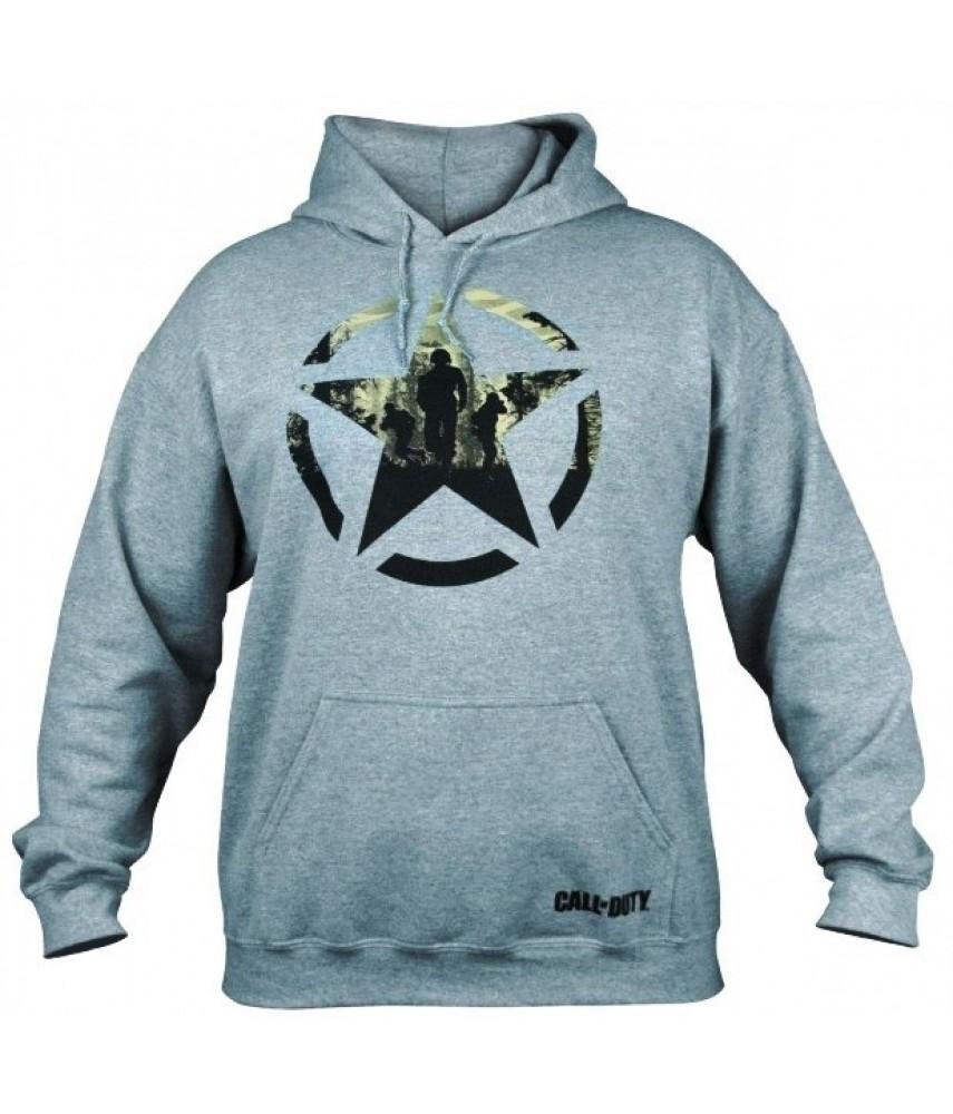 Толстовка с капюшоном Call of Duty WW2 Grey hoodie