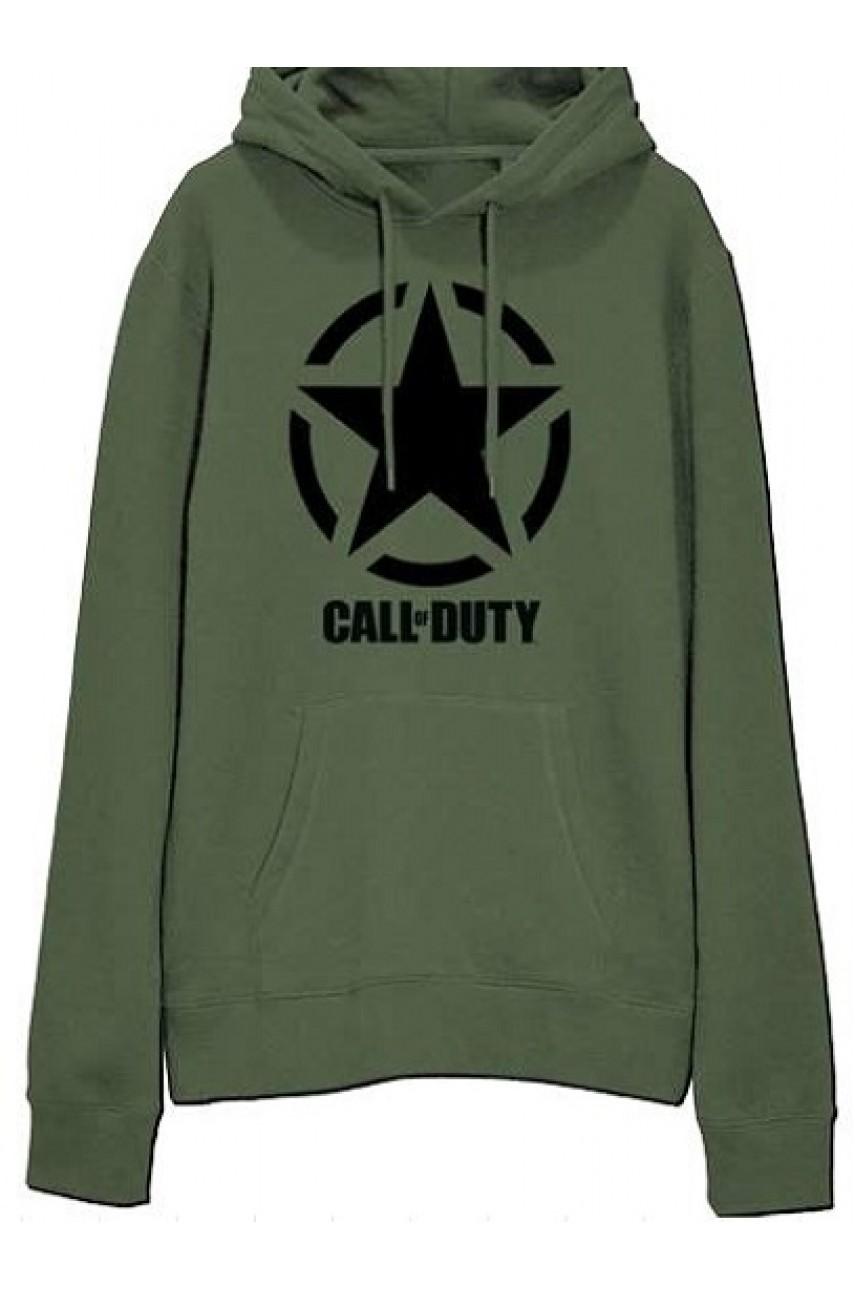 Толстовка с капюшоном Call of Duty WW2 Military Green hoodie