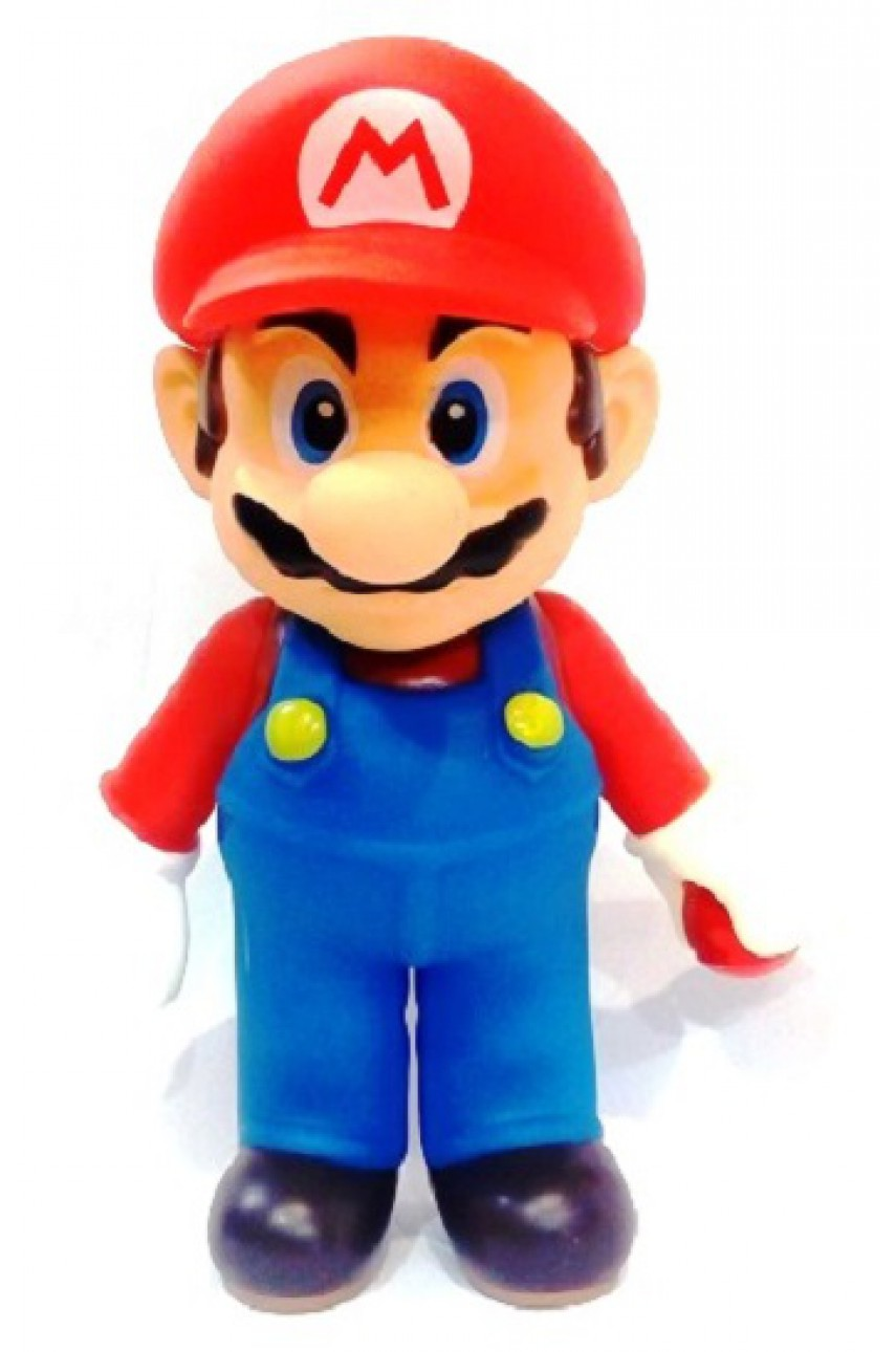 Super Mario. Фигурка Mario в красной бейсболке