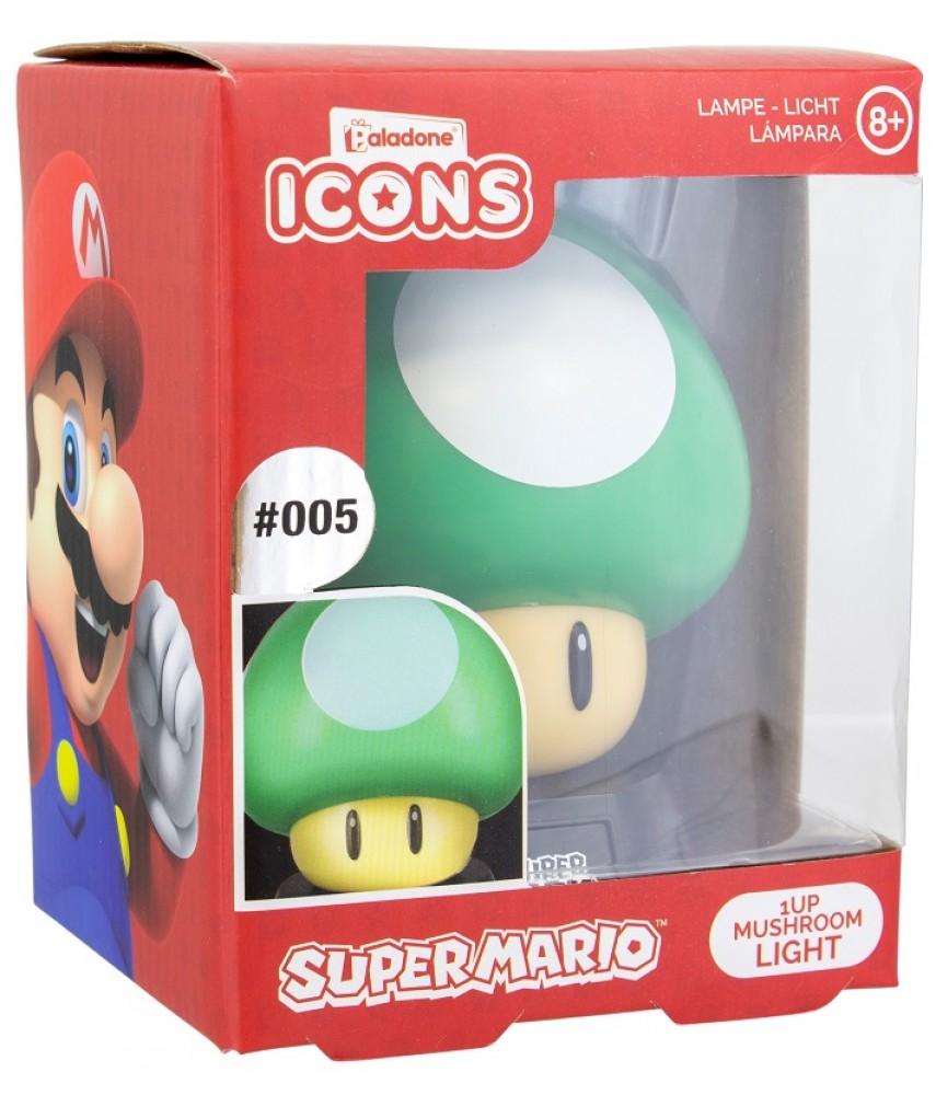 Светильник Nintendo 1Up Mushroom Icon Light V2 BDP