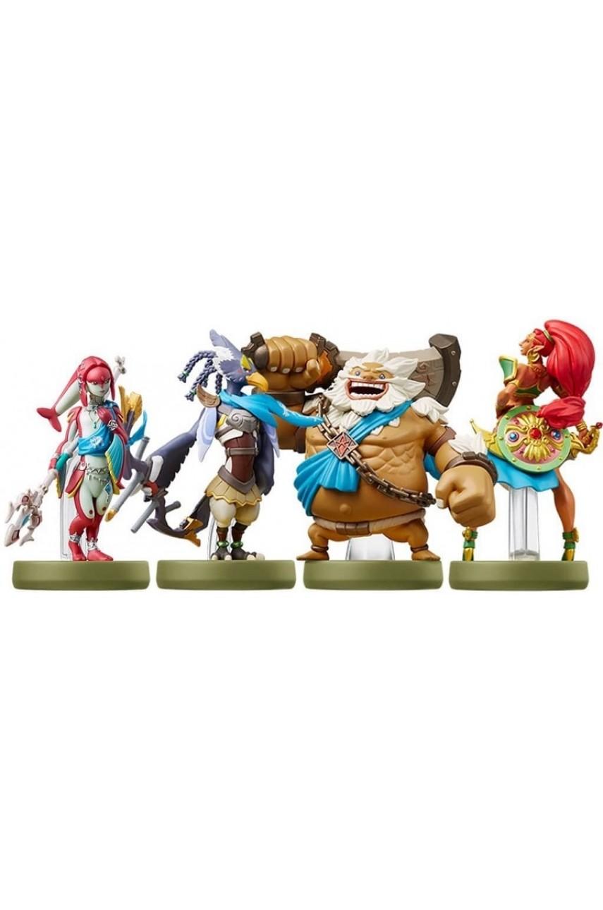 Набор из 4-х фигурок Amiibo Урбоса + Ревали + Мифа + Дарук (The Legend of Zelda Collection)