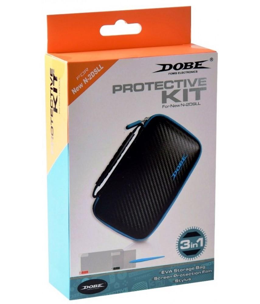 Protective Kit 3 в 1 для NEW Nintendo 2DS XL (DOBE TYD-055)