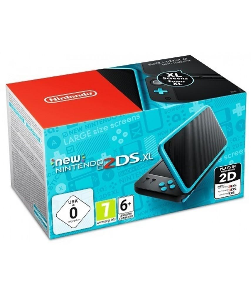 New Nintendo 2DS XL (черный + бирюзовый)