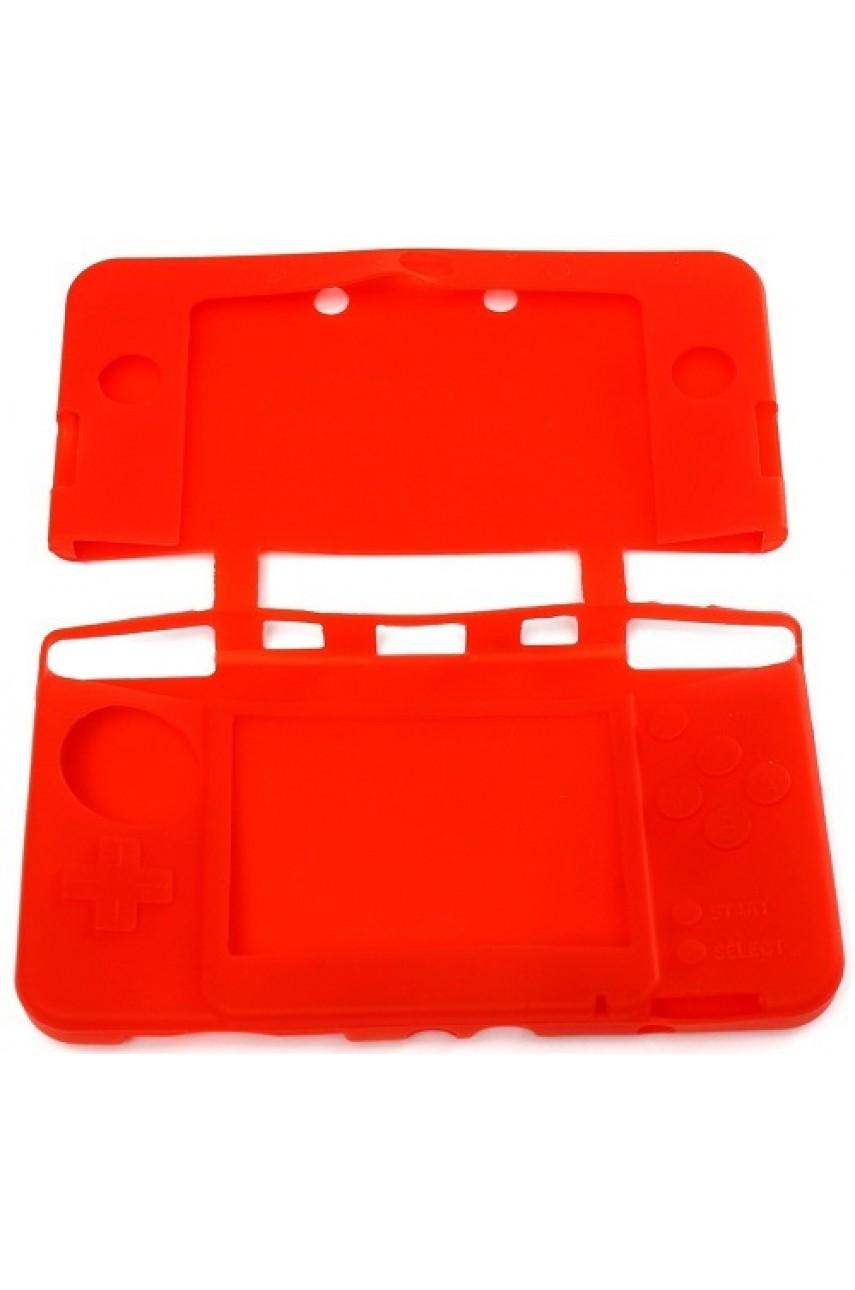 Силиконовый чехол для New Nintendo 3DS XL (красный)