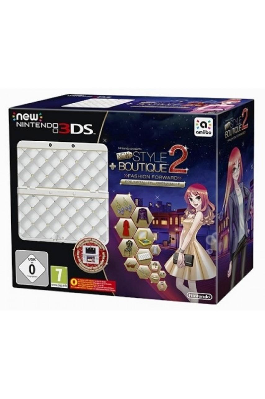 New Nintendo 3DS White + Игра New Style Boutique 2 + Декоративная крышка