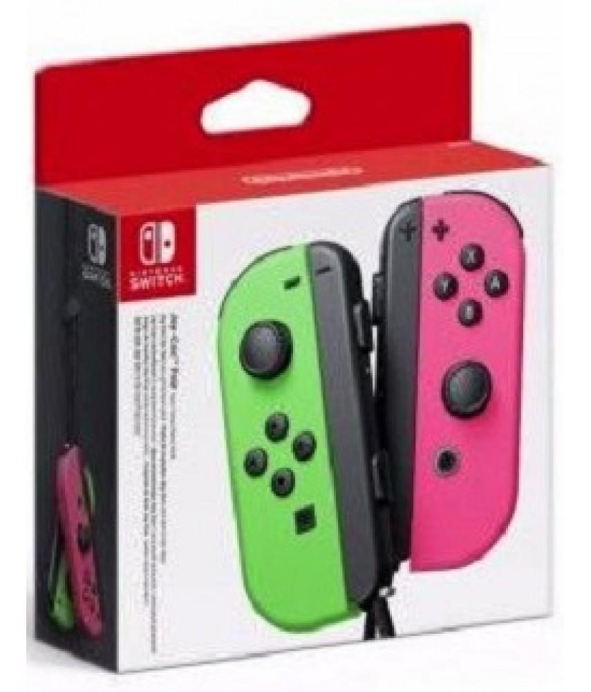 Набор 2-а контроллера Joy-Con для Nintendo Switch (неоновый зеленый/неоновый розовый)