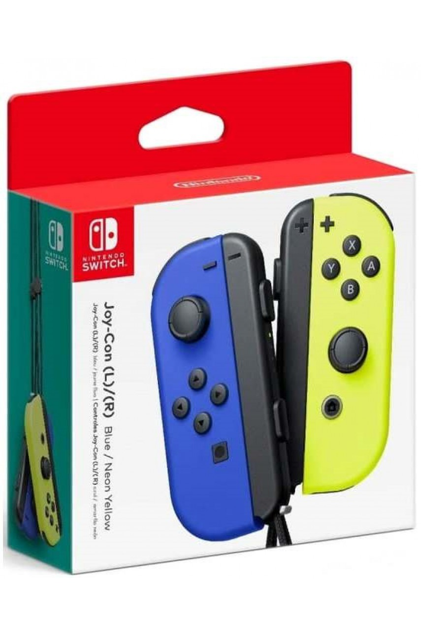 Набор 2-а контроллера Joy-Con для Nintendo Switch (синий / неоновый желтый)