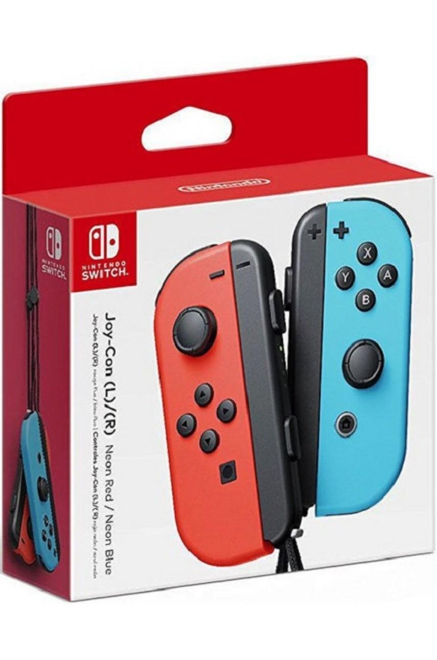 Набор 2-а контроллера Joy-Con для Nintendo Switch (Neon Red/Neon Blue)