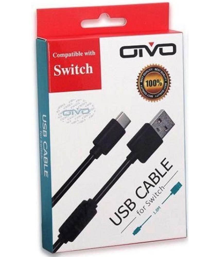 Кабель зарядки и передачи данных для Nintendo Switch (OIVO IV-SW035) 1,8м