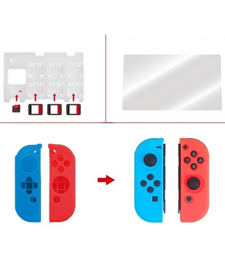 Набор Protective Kit 7 в 1 для Nintendo Switch (DOBE TNS-1749)