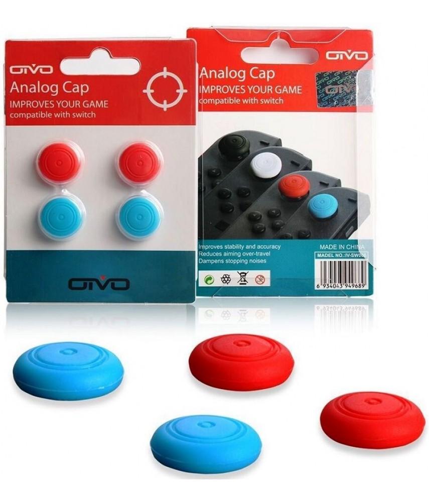 Силиконовые накладки 4 в 1 для Joy-Con Nintendo Switch (OIVO IV-SW006)