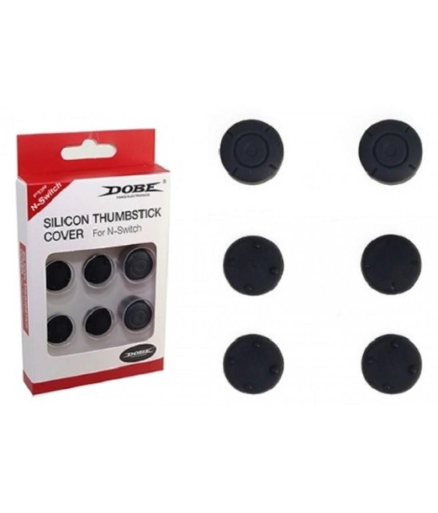 Силиконовые накладки 6 в 1 для джойстиков Nintendo Switch (DOBE TNS-877)