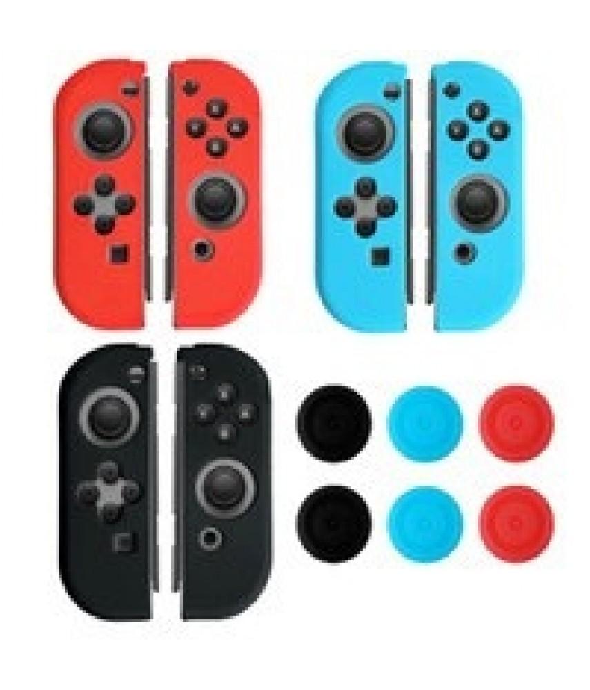 Силиконовый чехол с насадками (Grip Protection Kit) Nintendo Switch