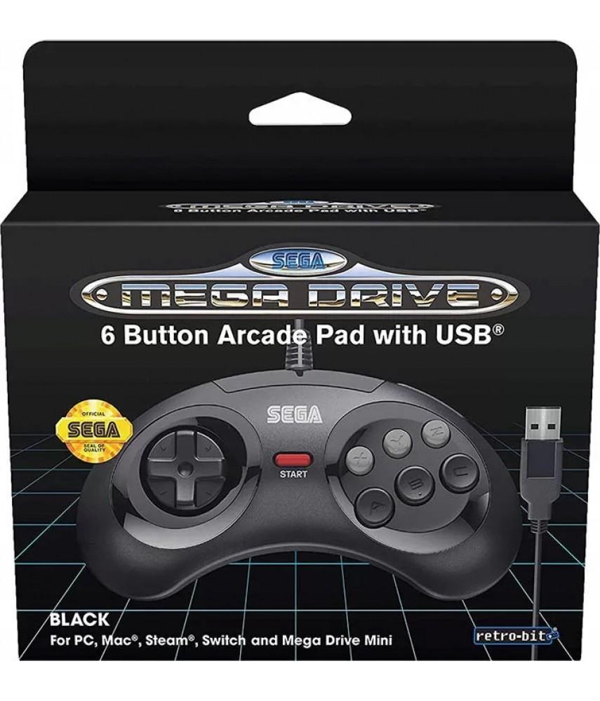 Джойстик Sega Mega Drive 6 Button Arcade Pad with USB (SKU-1134775)