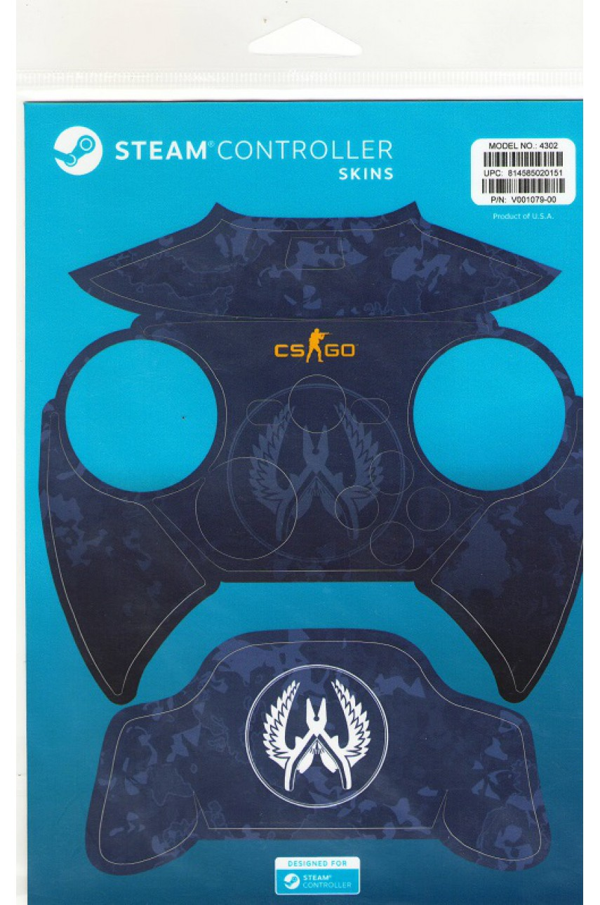 Комплект пластиковых накладок CSGO Blue Camo для Steam Controller