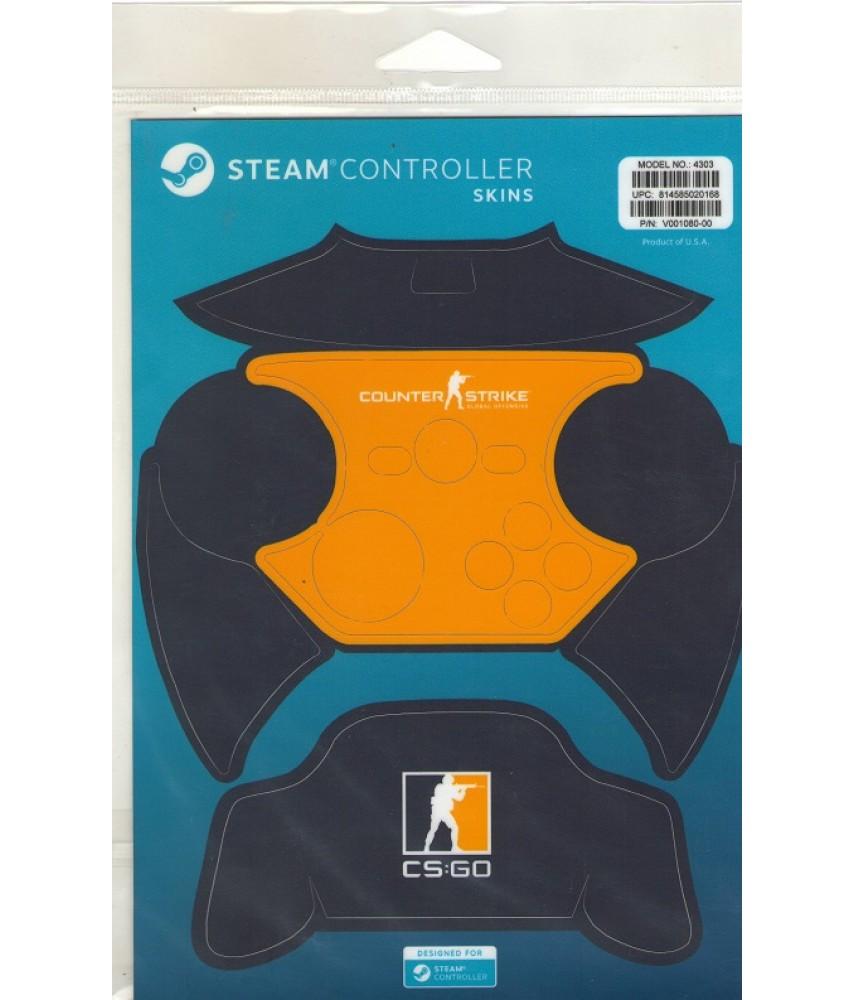 Комплект пластиковых накладок CSGO Blue/Orange для Steam Controller