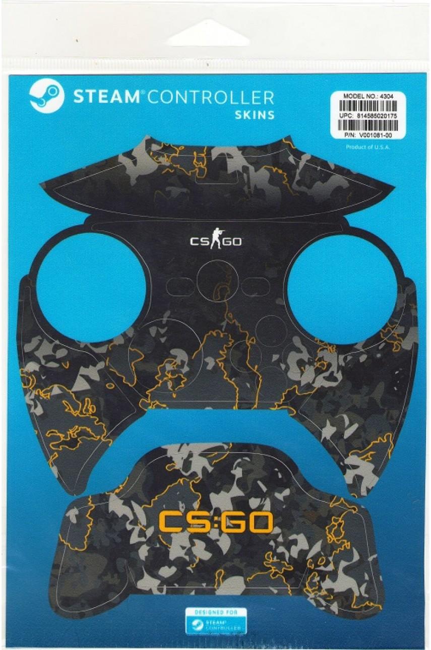 Комплект пластиковых накладок CSGO Grey Camo для Steam Controller
