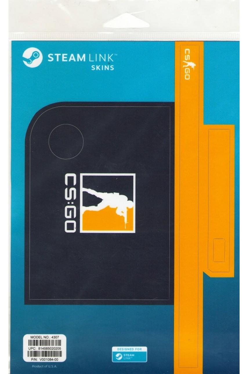 Комплект пластиковых накладок CSGO Blue/Orange для Steam Link
