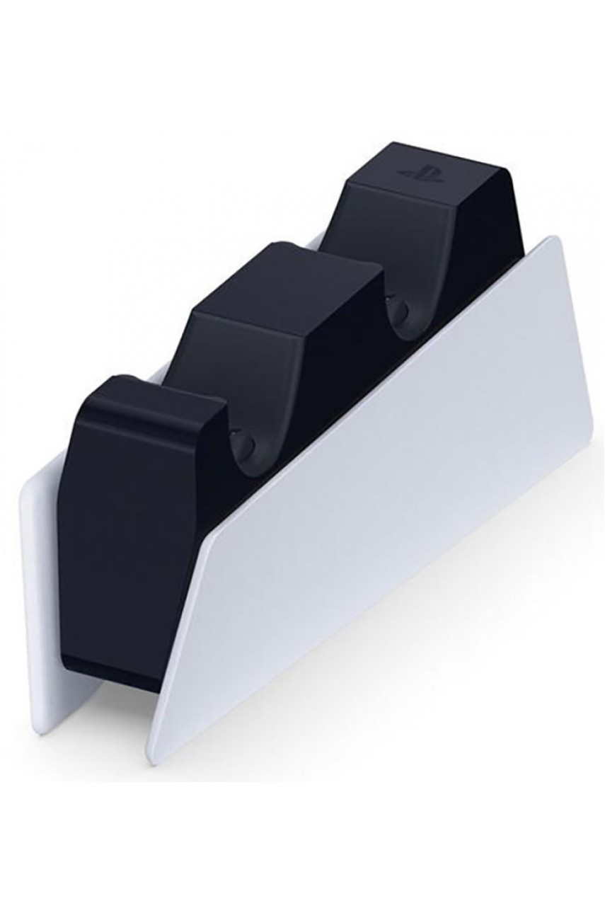 Sony Зарядная станция DualSense на два геймпада для PS5 (CFI-ZDS1) белый/черный