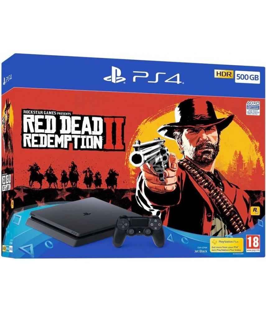 Sony PlayStation 4 Slim 500Gb [CUH-2216A] + игра Red Dead Redemption 2 (Рус)